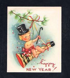 Unused Happy New Year Greeting Card ~  (JA 12)