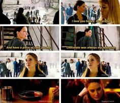 Deleted scene,  omg they mention the dauntless cake. WHY WASN'T THIS IN THE MOVIE???? :'(