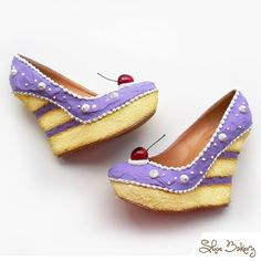 Purple Cake wedges - Find 150+ Top Online Shoe Stores via http://AmericasMall.com/categories/shoes.html
