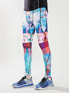 Without Walls Cloud Stripe Run Tight - Urban Outfitters