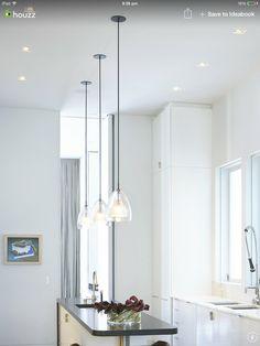 3 pendants Home Remodeling, Condo, Pendants, Lighting, Ideas, Light Fixtures, Pendant, House Renovations, Lights
