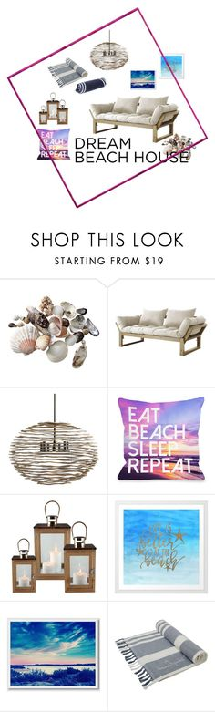 """#beachhouse"" by hajer-bh ❤ liked on Polyvore featuring interior, interiors, interior design, home, home decor, interior decorating, Fresh Futon, Arteriors, One Bella Casa and West Elm"