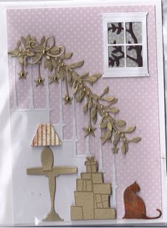 Memory Box card using Classic Staircase - bjl