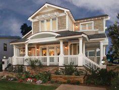 Craftsman Beach House by Carl Linden Designs