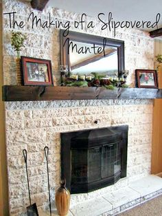 Easy diy wood mantel wood mantels diy wood and mantels the making of a slip covered mantel solutioingenieria Images