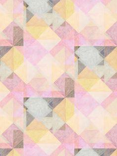 diamonds / pink, yellow, gray