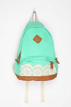 Kimchi Blue Lace & Jersey Backpack. yayaya.
