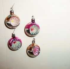 Vintage Indents Glass Christmas Ornaments pinks with by Avaricia, $9.99