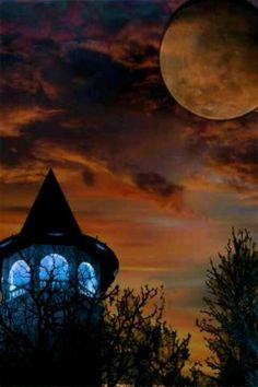 Eerie night sky- Happy Halloween!
