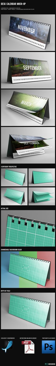 Desk Calendar Mock-Up on Behance