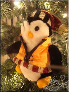 www.PattyStamps.com - favorite Penguin Christmas tree ornament