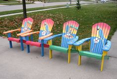 Adirondack chairs I painted for a charity auction.