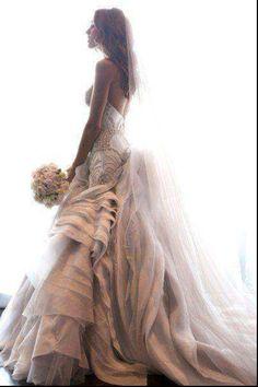 Extravagant wedding dress