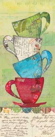 Come For Tea by Courtney Prahl art print Stencil Printing, Miniature Quilts, Collage Vintage, Tea Box, Art Journal Pages, Art Journals, Large Art, Stretched Canvas Prints, Fabric Painting