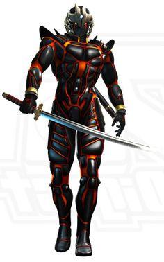 Undead ninja seeking revenge against Ryu Hayabusa. Sci Fi Armor, Armor Of God, Suit Of Armor, Character Concept, Character Art, Character Design, Cyberpunk, Ryu Hayabusa, Cyber Ninja
