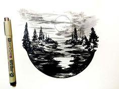 Ilustraciones diarias en miniatura por Derek Myers