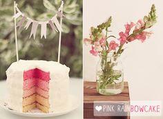 * magnoliaelectric: magnolia in the kitchen {pink rainbowcake}