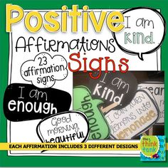 These Positive Affirmations Speech Bubbles feature 23 affirmations! Positive affirmations are a great way to build confidence and social emotional learning in students. Affirmations are positive phrases or statements that challenge negative or unhelpful thoughts. They remind students to be their best selves every day. #socialemotionallearning #thethinktank #positiveaffirmations #teacherspayteachers #TpT #SEL #growthmindset #positiveaffirmationspeechbubbles #photoprops Teacher Resources, Teacher Pay Teachers, I Am Affirmations, Positive Phrases, Social Emotional Learning, Confidence Building, Sign I, Best Self, Classroom