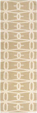 Jill Rosenwald Fallon FAL-1026 Desert Sand Lattice Rug