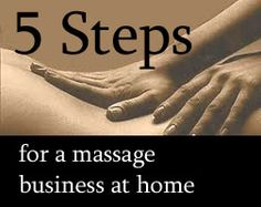 5 simple steps to starting a massage business at home!