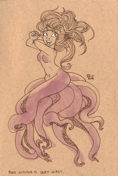 Octomaid - seriously thinking about this instead of of a mermaid. <3