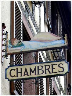 hotel sign in Kaysersberg, Haut-Rhin France | Flickr - Photo Sharing!