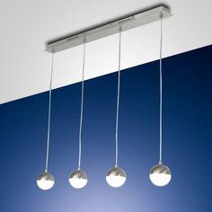 Attraktive LED Pendelleuchte Melville in Nickel... | dimmbar | 264,27 €