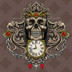Reaper's Skull and Time. Vectors