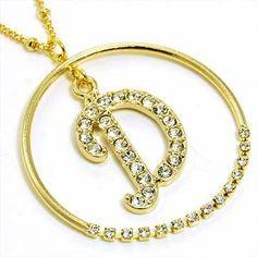 Gold Alphabet Necklace Letter D