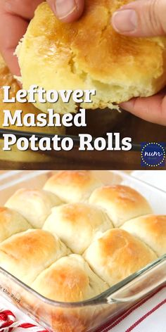 Leftover Mashed Potato Rolls are a sweet and delicious way to use up any flavor of leftover mashed potatoes. Our favorite way to use up leftovers! recipes no yeast videos Leftover Mashed Potato Rolls Leftover Mashed Potatoes, Mashed Potato Recipes, Leftover Ham, Mashed Potato Cakes, Bread Bun, Bread Rolls, Pan Bread, Homemade Biscuits, Homemade Yeast Rolls