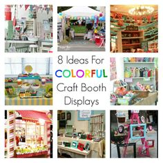 8 Ideas For Colorful Craft Booth Displays
