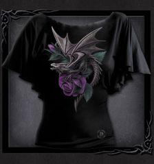 DRAGON BEAUTY - Boat Neck Bat Sleeve Top Black - I kinda like this one too