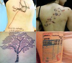 <p>Você também é apaixonada por livros e tem vontade de fazer uma tatuagem inspirada neles? Pra ajudar, vasculhei o Pinterest, Tumblr e WeHeartIt em busca de boas ideias. Inspire-se nos desenhos, lugares e encontre a tatuagem que tem mais a ver com você. Livros, livros e mais livros. Aquela história que marcou sua vida pode […]</p>