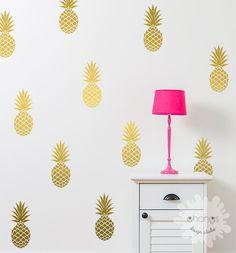 Pineapple Wall Decal / Large 12 Pineapples by OhongsDesignStudio