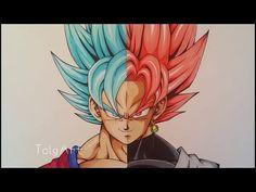 Drawing Goku vs Black Goku | Super Saiyan Blue vs Rose | TolgArt | 40 K Subs - YouTube