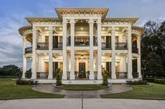 Modeled after the famed Nottoway plantation house in White Castle, Louisiana, the home at 22402 Holly Creek Trail in Tomball is an impressive estate.