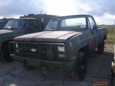 1986 Chevrolet Cuc-V truck M1028 Model CD-30903.4 wheel drive, 6.2 diesel engine, automatic transmission TH-400, Transfe