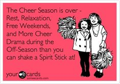 The Cheer Season is over - Rest, Relaxation, Free Weekends, and More Cheer Drama during the Off-Season than you can shake a Spirit Stick at! my-obsessive-hobby