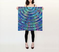The Ripple Effect VIII, Underwater - Silk Scarf, Small Square, 26x26