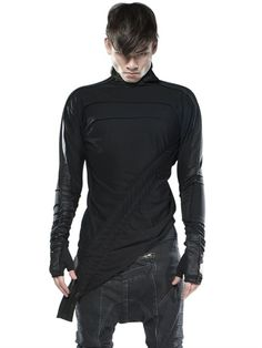 DEMOBAZA - TOP CHANNEL 1 TECHNO STRETCH T-SHIRT $168