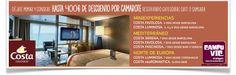 #costacrucero #cruceros #ofertascruceros Fins a 400€ de descompte per cabina. Condicions de la promoció: Reserves realitzades fins a l'11 d'Abril 2014 Vàlid per a categories suite o samsara Reserva Online: http://campuvic.traveltool.es/cruceros/naviera.aspx?codNaviera=1  -----------  Hasta 400€ de descuento por camarote reservando categorías suite o samsara. Condiciones de la promoción: Reservas realizadas hasta el 11 de Abril 2014 Válido para categorías suite o samsara
