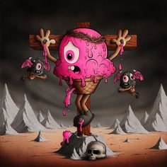 Buff Monster - Pink is Power - Illustratore di Los Angeles