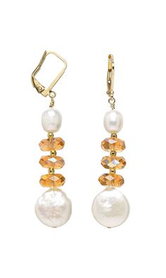 Jewelry Design - Earrings with Cultured Freshwater Pearls and Czech Fire-Polished Glass Beads - Fire Mountain Gems and Beads