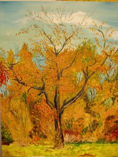 Artwork >> Mazouz Patrice >> tree in autumn  #artwork, #tree, #autumn  #oil, #painting, #masterpiece, #nature,