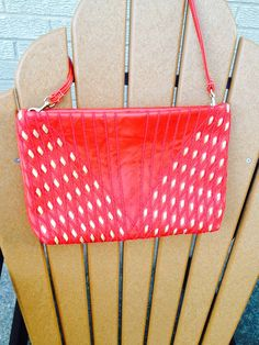Vintage Large Red Leather Samir Clutch/ Crossbody by ItsallforHim, $20.00
