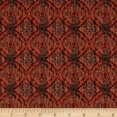 Quilting Treasures Cognac Brown Scrollscapes Mixer Swirl Fabric 24362-AS BTY