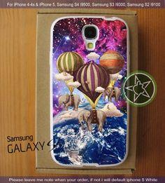 Flight Of The Elephants Galaxy Nebula iPhone 4/4S/5, Samsung S4/S3/S2 cover cases | sedoyoseneng - Accessories on ArtFire