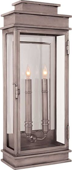 TALL LINEAR LANTERN (exterior version available) circa lighting CH2910- outdoor covered patio