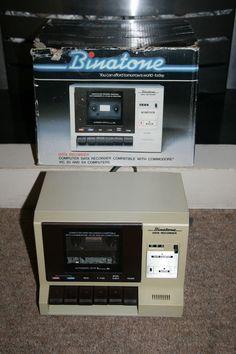 Commodore 64 Vic 20 Binatone Data Recorder - vertical orientation and boxy styling!
