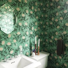 That wallpaper!! Via wit+delight on Instagram